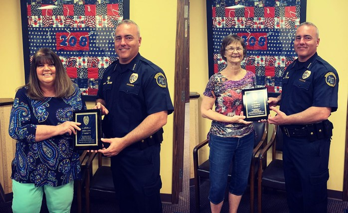 THPD Celebrates Cheryl Long & Elaine Wence for Decades of Service